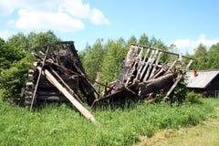 房子破坏了 免版税库存图片