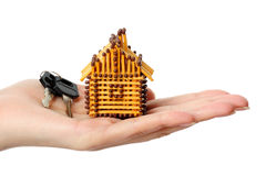 房子符合 免版税库存图片