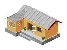 房子等量粗劣的向量 免版税库存照片