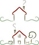 房子简单例证的徽标 免版税库存照片