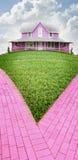 房子粉红色 免版税库存图片