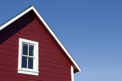 房子红色屋顶 免版税图库摄影