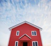 房子红色的一点 库存图片