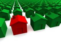 房子红色 免版税图库摄影
