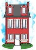 房子红色 库存照片