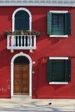 房子红色 免版税库存照片