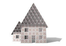 房子纸板 免版税库存图片