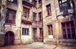 房子罗兹波兰 免版税库存图片