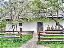 房子罗马尼亚土气 免版税库存照片