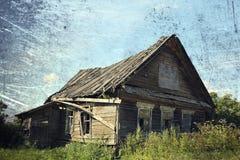 房子老农村 免版税库存图片
