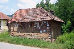房子老塞尔维亚人 库存照片
