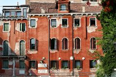 房子老威尼斯式 免版税库存照片