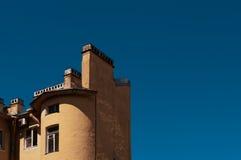 房子老屋顶 免版税库存照片