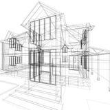 房子草图 免版税图库摄影