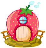 房子草莓 图库摄影