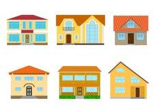 房子被设置的向量 免版税库存图片