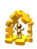 房子解决方法 免版税库存照片