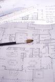 房子计划 免版税图库摄影