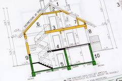 房子计划 免版税库存照片