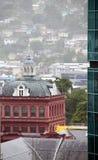 房子议会端口红色西班牙特立尼达 免版税库存图片