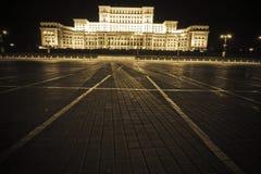 房子议会罗马尼亚语 免版税库存照片