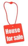 房子销售额标签 免版税库存图片