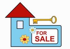 房子销售额符号 免版税库存照片