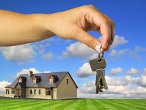 房子锁上新 免版税图库摄影