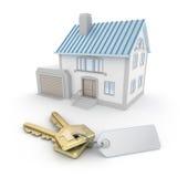 房子锁上略图 向量例证