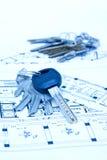 房子锁上计划 库存图片