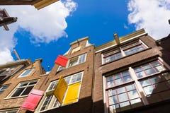 房子门面在老城市在阿姆斯特丹 库存照片