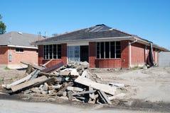房子飓风破坏了 免版税库存图片