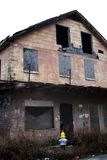 房子飓风被破坏的消防栓新 免版税库存照片