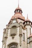 房子`房子市政厅`的上部的看法在Sadovaya街,圣彼德堡,俄罗斯上的 图库摄影