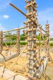 房子建筑的混凝土桩模子 图库摄影