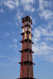 房子建筑的混凝土桩模子 免版税库存照片