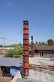 房子建筑的混凝土桩模子 库存图片