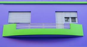 房子紫色 库存图片