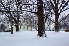 房子1月白色 免版税库存图片