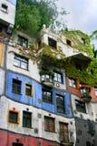 房子hundertwasser维也纳 库存图片