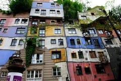 房子hundertwasser维也纳 免版税库存图片