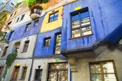 房子hundertwasser维也纳 库存照片