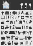 房子icons2 免版税图库摄影