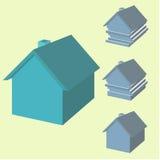 房子Infographics 3d的 有被偏移的层数的议院 免版税库存照片