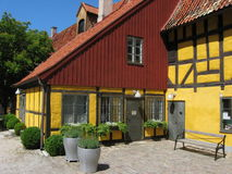 房子malmoe老瑞典 免版税库存照片
