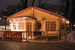 房子s圣诞老人 库存图片