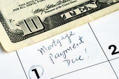 房屋抵押贷款工资时间 库存图片