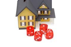 房屋抵押贷款风险 免版税库存照片