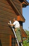 房屋板壁木头 库存照片
