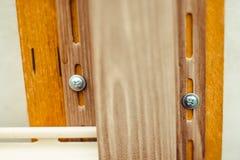 房屋板壁的设施在房子的门面的 免版税图库摄影